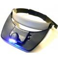 Козырек (с комплектом линз и подсветкой) на голову MG81001-A